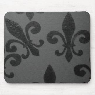 Crooked Fleur De Lis Mouse Pads