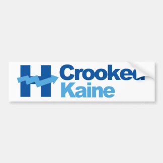 Crooked Hillary and Kaine 2016 - Bumper Sticker
