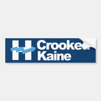 Crooked Hillary and Kaine 2016 - white - Bumper Sticker