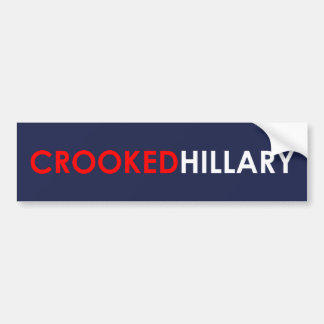 Crooked Hillary Bumper Sticker (Blue)
