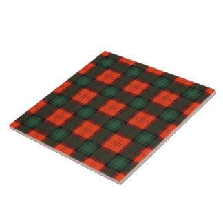 Crookshank clan Plaid Scottish kilt tartan Large Square Tile