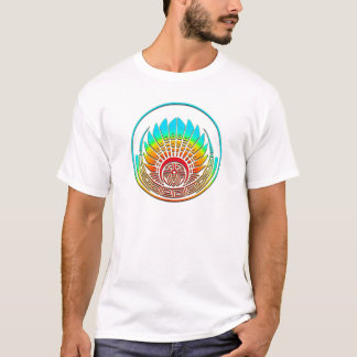 Crop circle - Mayan mask - Quetzalcoatl T-Shirt