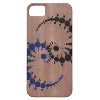 Crop Circle on Wood Grain iPhone 5 Cover