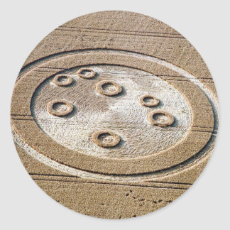 Crop Circle Sisters Of Pleiades Froxfield 1994 Classic Round Sticker
