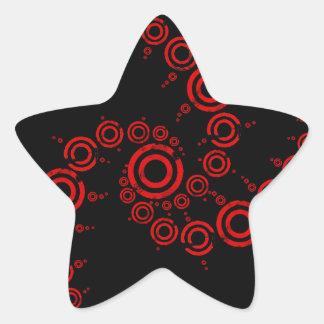 crop circle star stickers