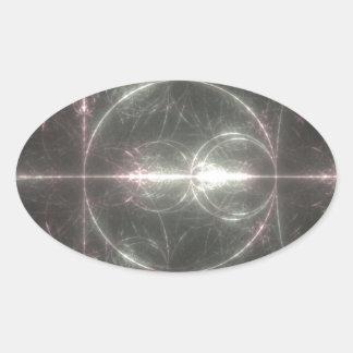 Crop Circle Oval Sticker