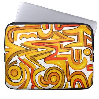 Crop Circles-Modern Art Geometric Laptop Sleeve