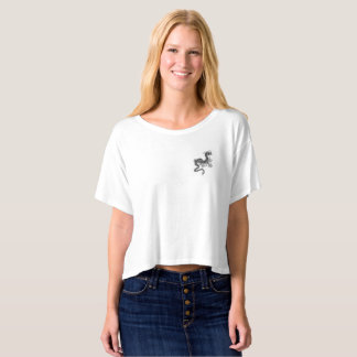 Cropped Boxy T-shirt with Chinese Dragon