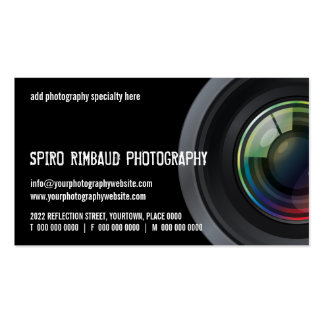 Cropped Camera Lens Photographers Business Card Template