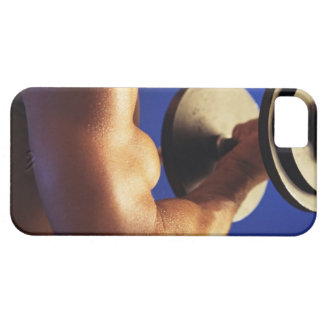 Cropped shot of man lifting weights iPhone 5 cases