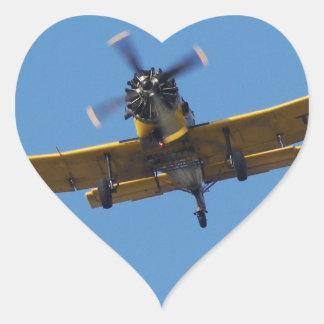 Cropsprayer Airplane Heart Sticker