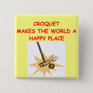 croquet 15 cm square badge