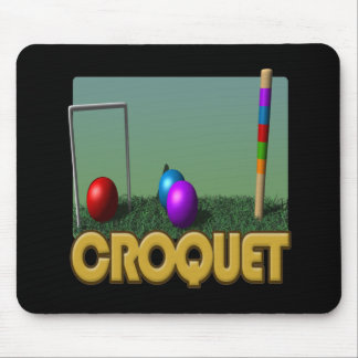 Croquet 5 mouse pad