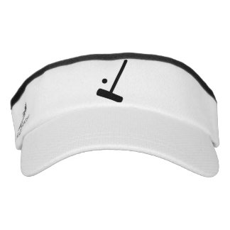 Croquet Ball and Mallet in Silhouette Graphic Visor