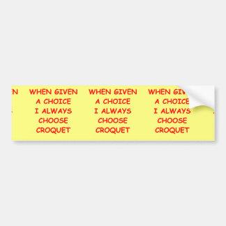 croquet bumper stickers