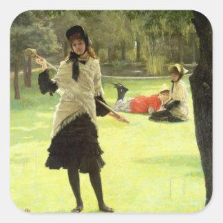 Croquet, c.1878 square sticker