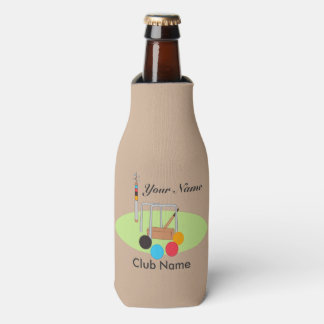 Croquet Club Player Team Bottle Cooler