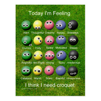 Croquet Emotions Postcard