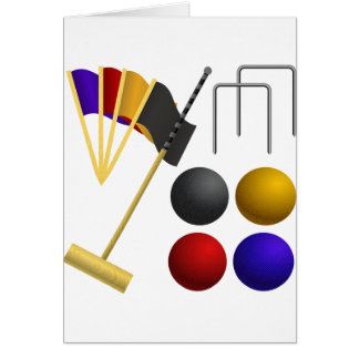 Croquet Set Greeting Cards