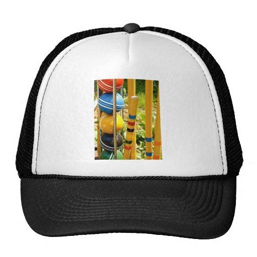 Croquet Set Mesh Hat