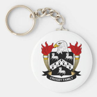 Crosby Family Crest Basic Round Button Key Ring