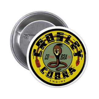 Crosley Cobra Engine distressed vintage sign repro 6 Cm Round Badge