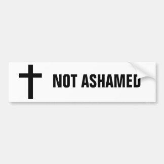cross2, NOT ASHAMED Bumper Sticker