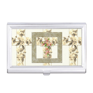 Cross Abstract Pattern Business Card Holder