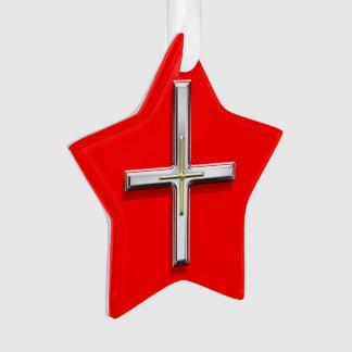 Cross Acrylic Star-Shaped Ornament