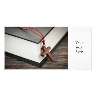 Cross and Bible Photo Card