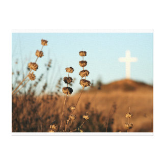 Cross and Brush Canvas Stretched Canvas Prints