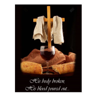Cross and Communion Easter Postcard