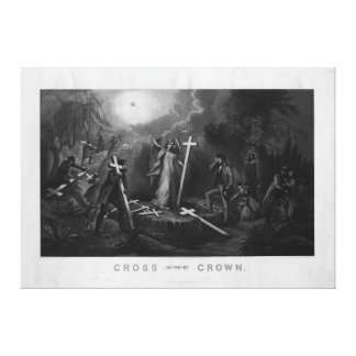 Cross and Crown by Geo Pierce Jr. Stretched Canvas Prints