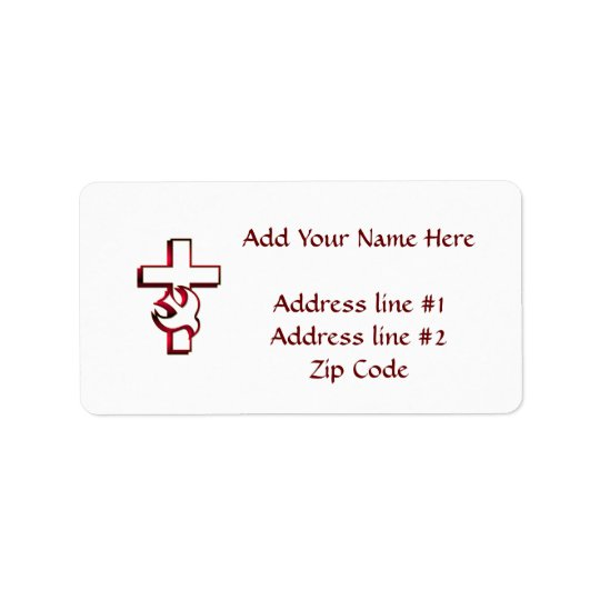 Cross and Holy Spirit / Holy Ghost Address Label