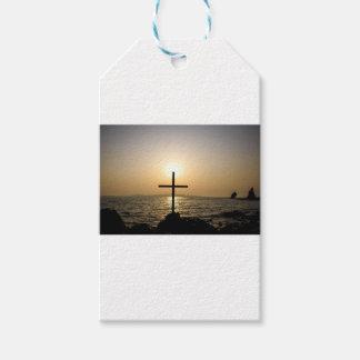 Cross and sea gift tags