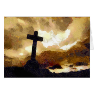 Cross and Sky Greeting Card