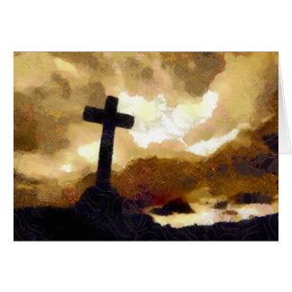 Cross and Sky Greeting Card