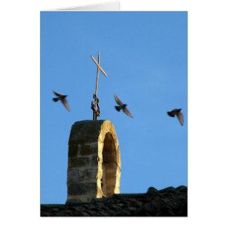 Cross and Three Birds Card