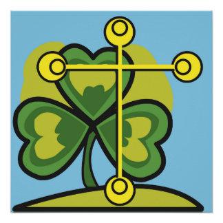 Cross and Three Leaf Clover, Holy Trinity