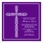 Cross Baptism Christening Girl Baptism Inviation Custom Invitation