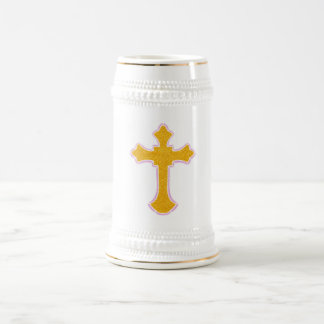 Cross Beer Stein