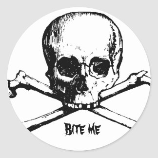 CROSS, Bite me Classic Round Sticker
