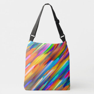 Cross Body Bag Colorful digital art splashing G391