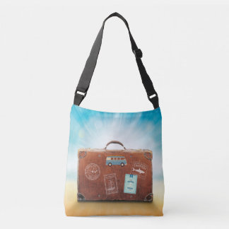 Cross Body Bag with Travel motive