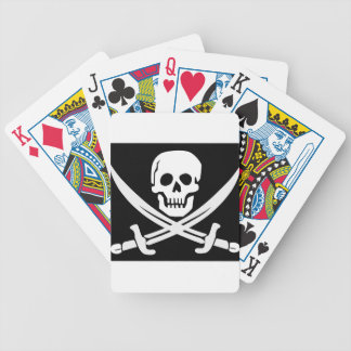 Cross Bones Flag Pirate Skull Bicycle Playing Cards