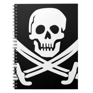 Cross Bones Flag Pirate Skull Notebook