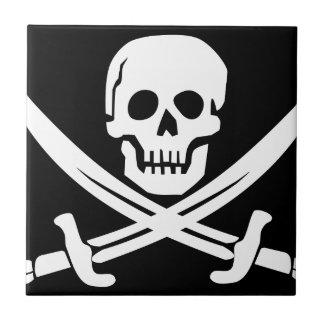 Cross Bones Flag Pirate Skull Tile