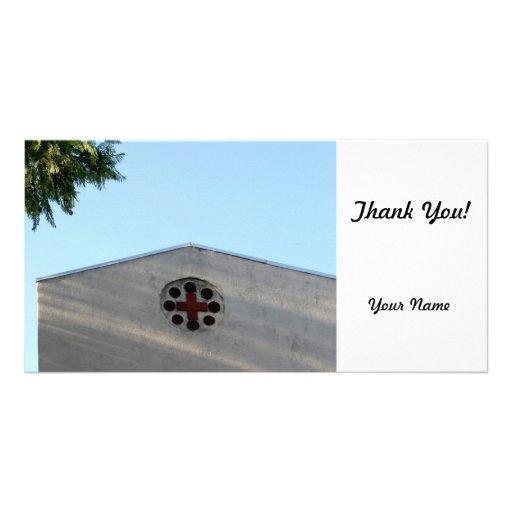 Cross Building Photo Greeting Card