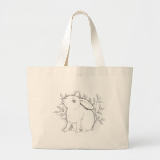 cross bunny canvas bag