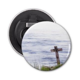 Cross by river bottle opener